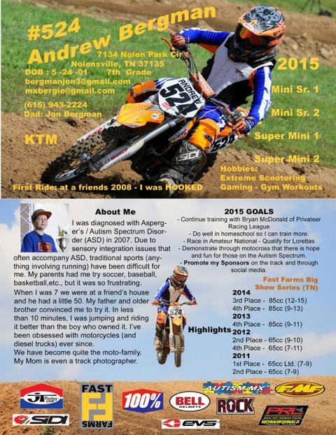 Resume Template Bike Lightning Red MS Word Motocross Action Magazine